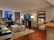 Platinum Suite Living Room at Luxe City Center