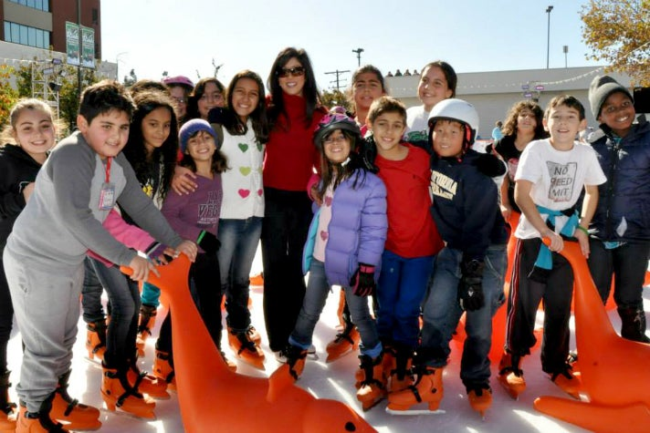 Kristi Yamaguchi visits The Rink in Downtown Burbank