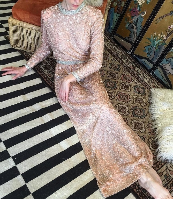 1960s beaded gown at Ragg Mopp Vintage