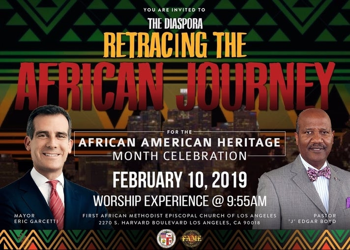 African American Heritage Month celebration at First AME Church