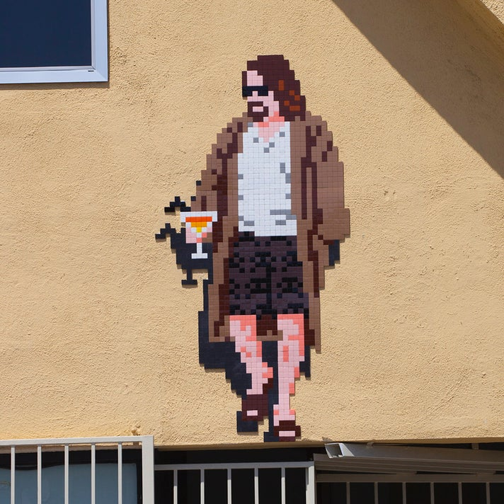 The Dude (LA_186) by Invader at Shatto 39 Lanes