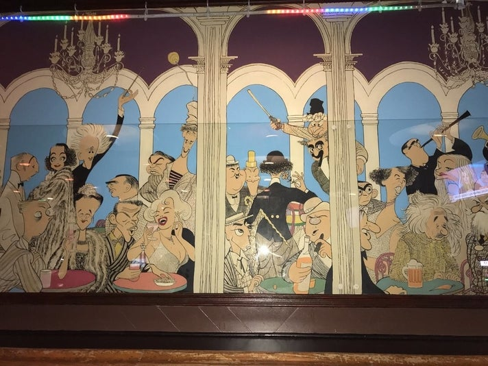 Al Hirschfeld mural at the Frolic Room