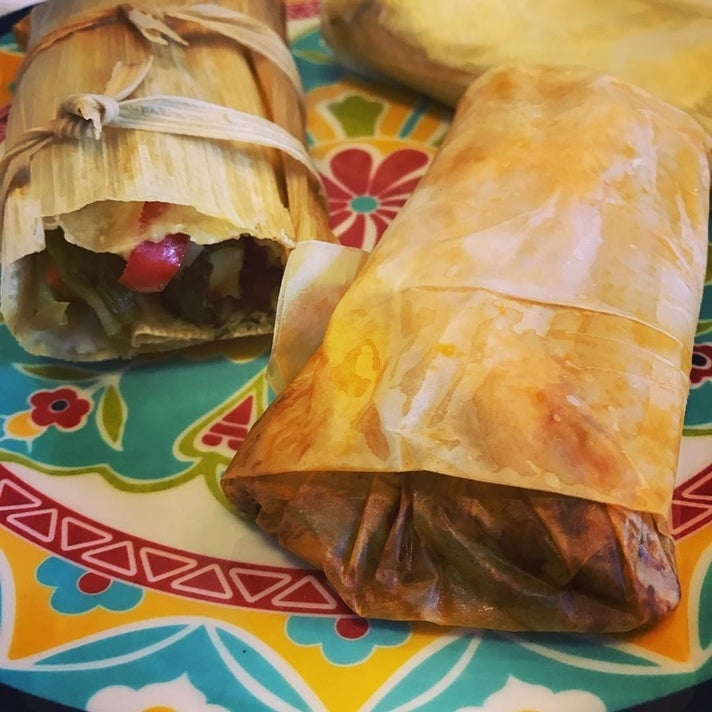 Vegan tamales at Tamara's Tamales