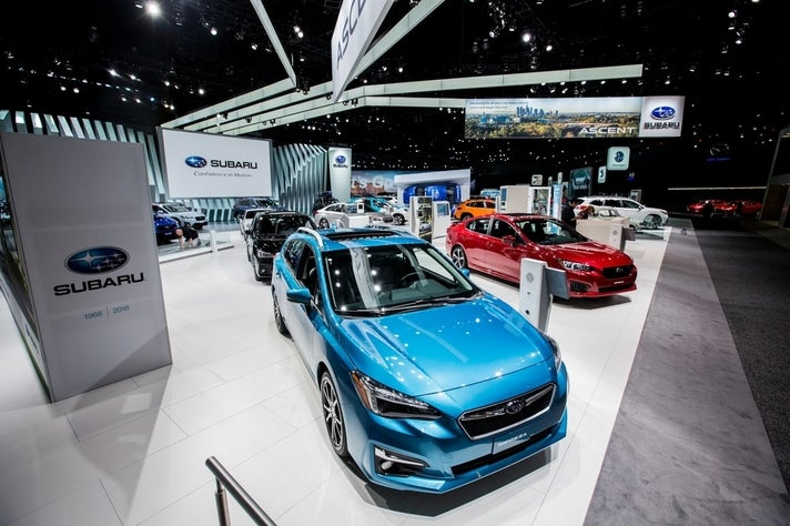 Subaru exhibit at the 2017 LA Auto Show