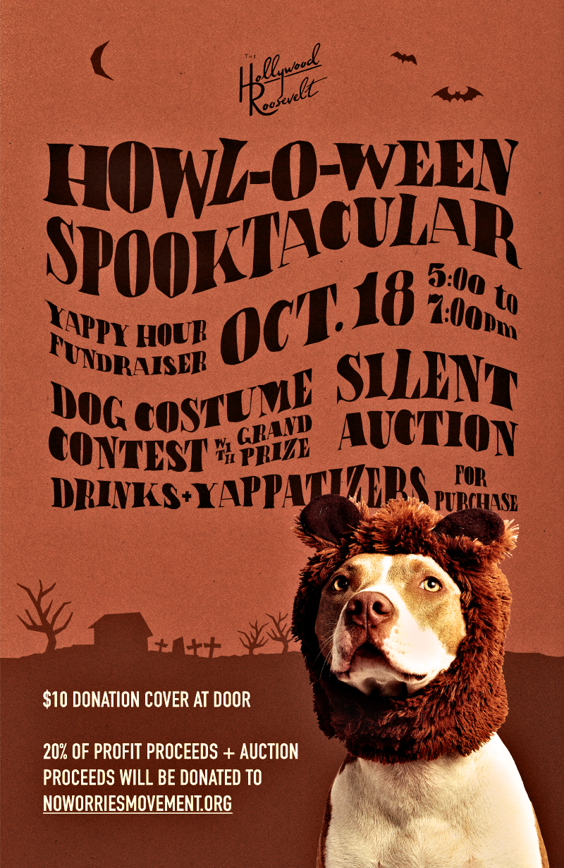 Howl-O-Ween Spooktacular Yappy Hour at the Hollywood Roosevelt