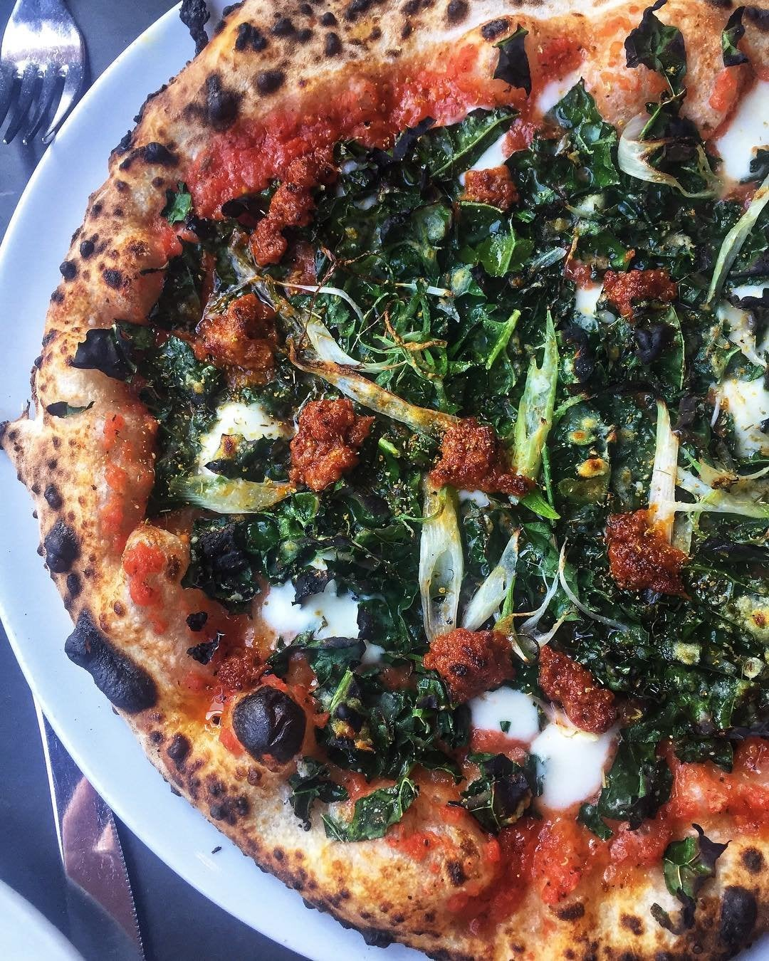 Alla'nduja Pizza at Bestia